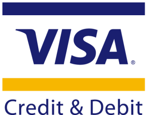 We accept payment by credit and debit cards